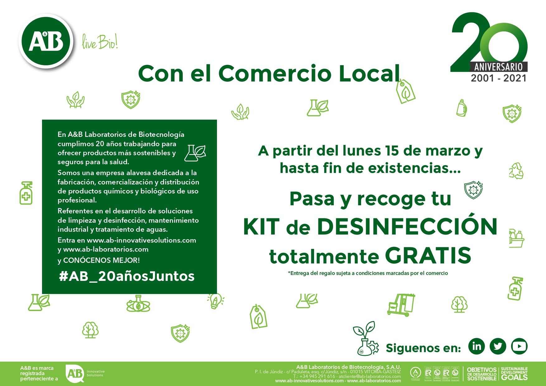 AB Laboratorios celebra su aniversario con el comercio local