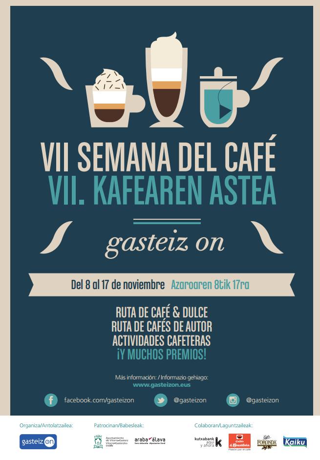 VII Semana de Café Gasteiz On del 8 al 17 de noviembre